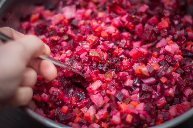 Салат овоща с различными ингредиентами стоковое фото rf