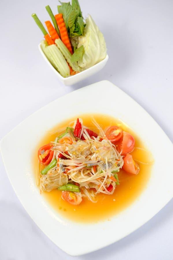 салат папапайи тайский стоковая фотография rf