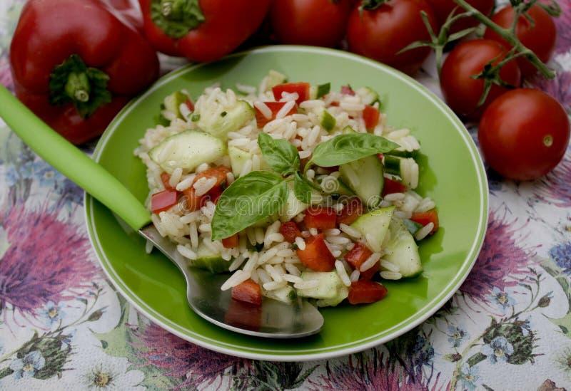 Салат риса и паприки стоковые изображения rf