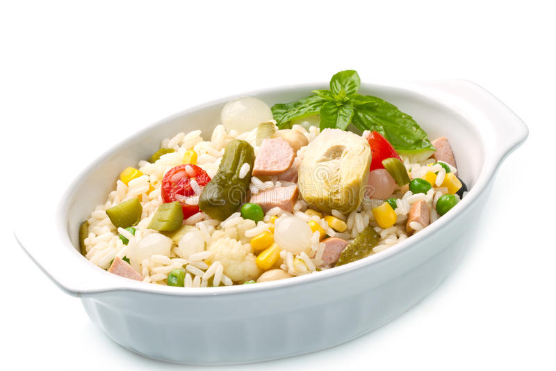 салат риса стоковые фото