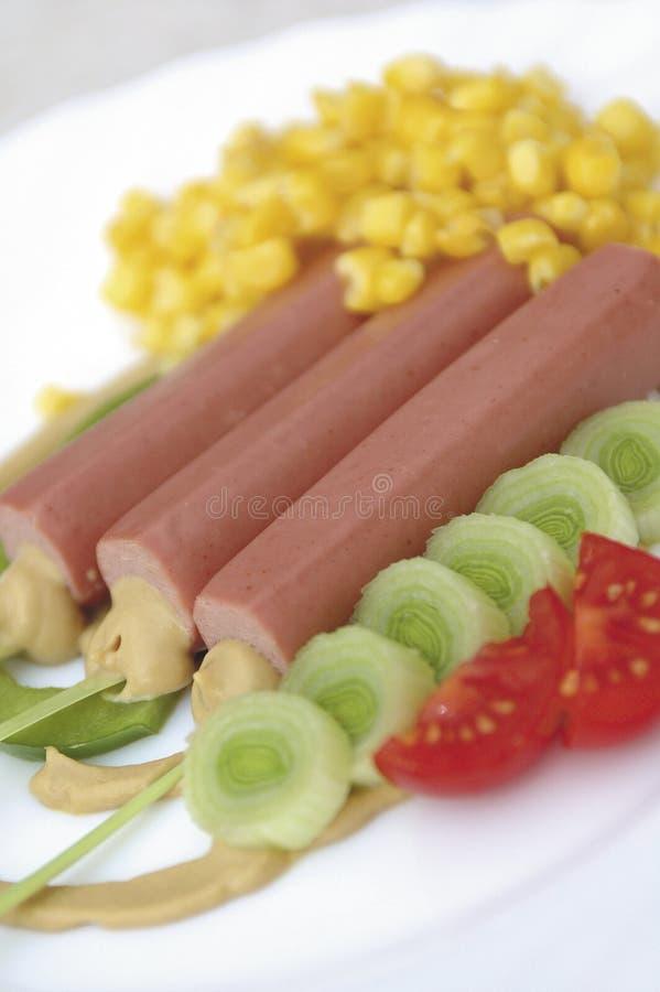 салат собаки горячий стоковое фото rf