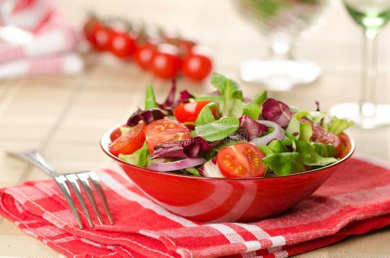 Салат с овощами стоковые изображения rf