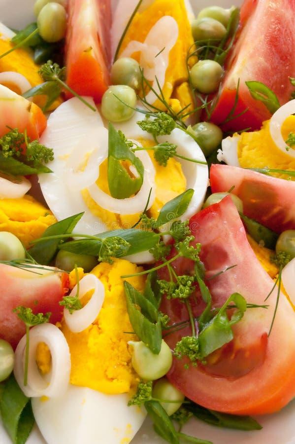 Салат с томатами и яичками стоковое изображение rf