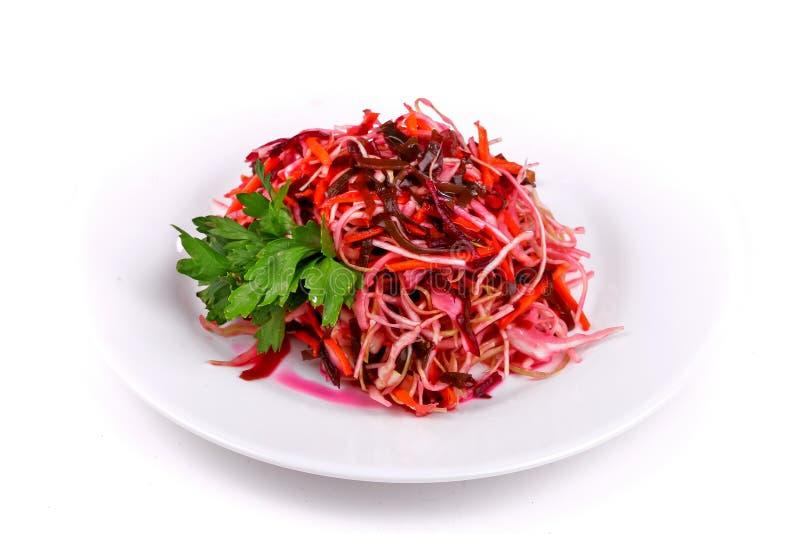 Салат sauerkraut и морковей стоковые фотографии rf