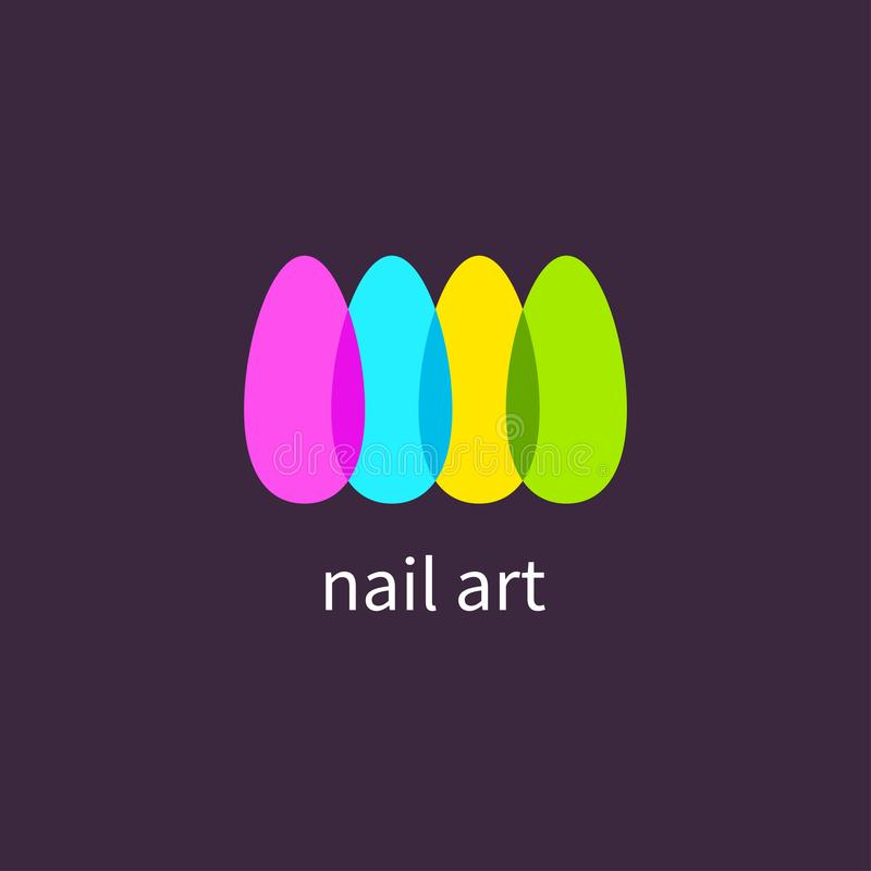 Салон маникюра, ногти искусства иллюстрация вектора