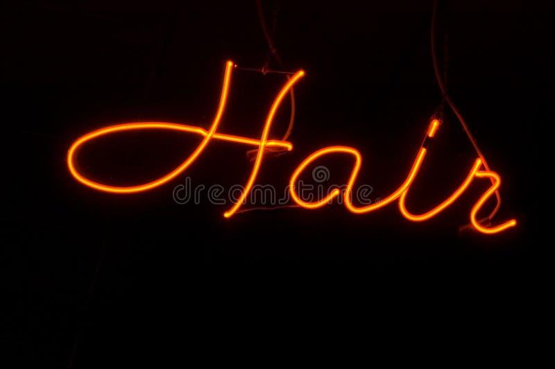 салон неона волос стоковые изображения