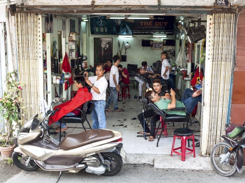 Салон парикмахерских услуг в Can Tho, Вьетнаме стоковое изображение