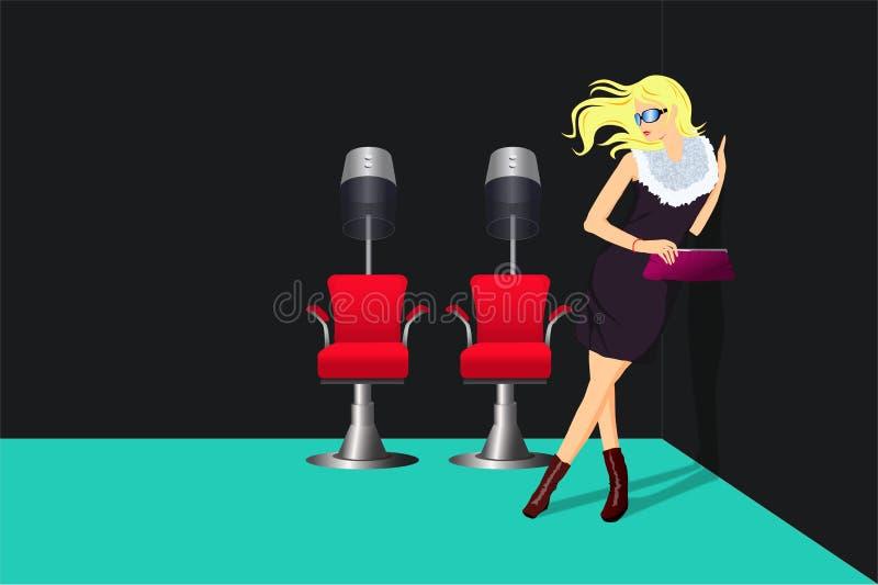 салон повелительницы hairdressing иллюстрация штока