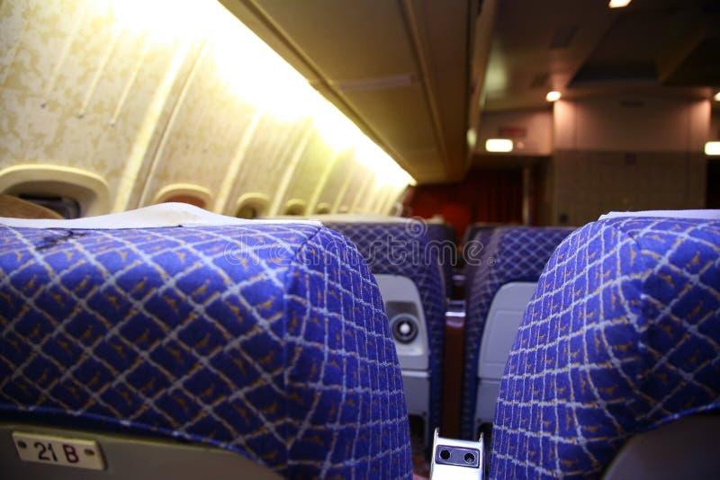 салон самолета стоковая фотография