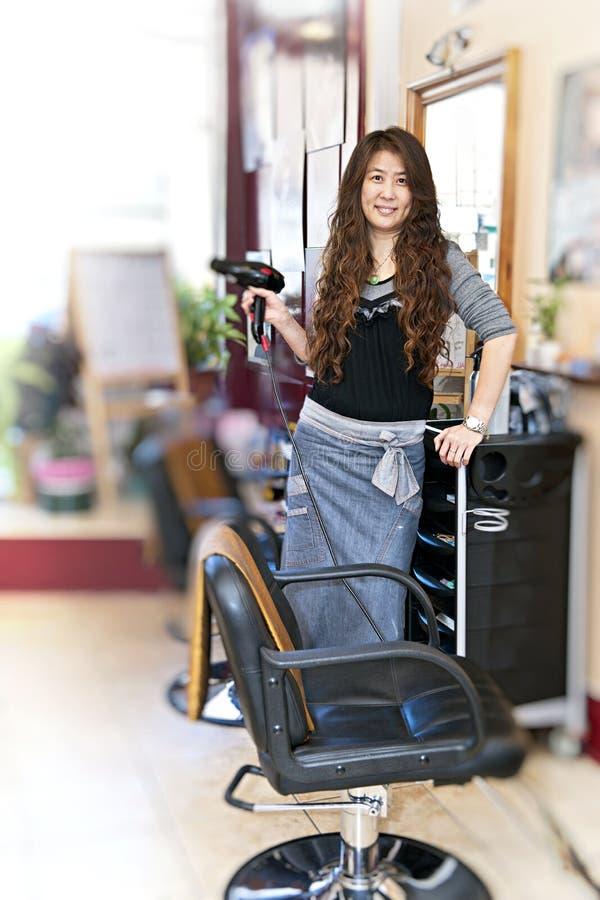 салон hairstylist волос стоковое фото