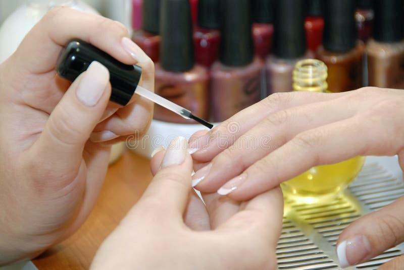 салон manicure красотки стоковая фотография rf