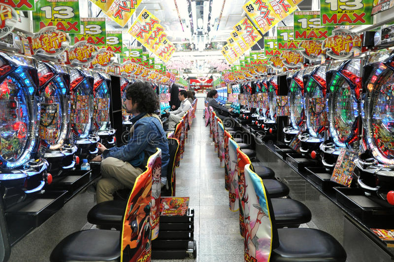 салон pachinko стоковые изображения rf