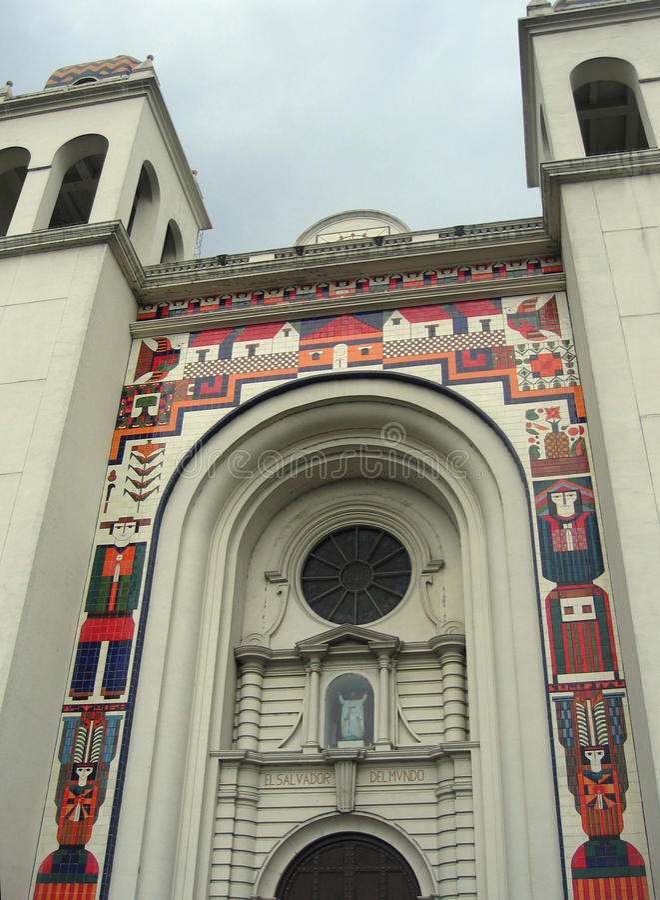 Сальвадор, собор столичного жителя Сан-Сальвадор стоковое фото