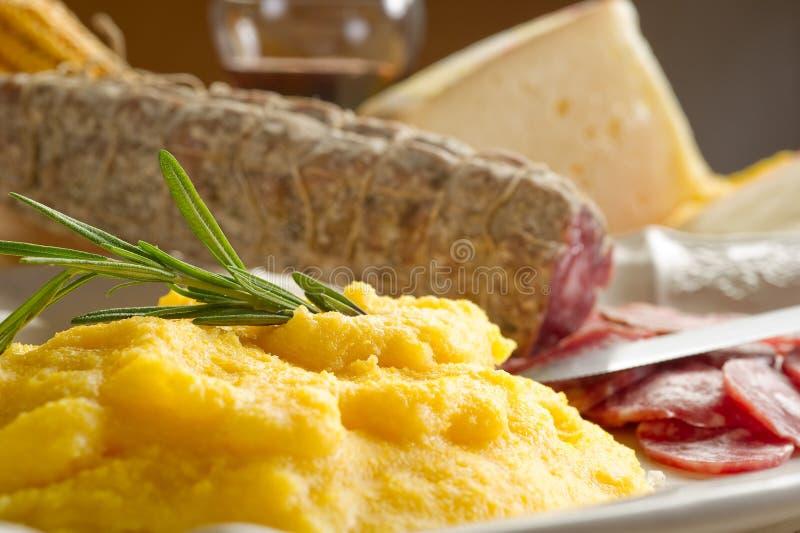 салями polenta стоковые фотографии rf