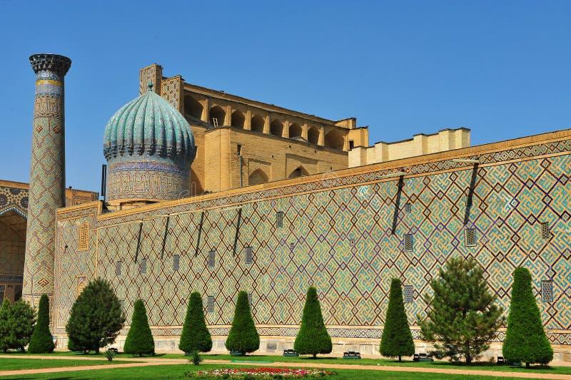 Самарканд: Ансамбль Registan стоковые изображения