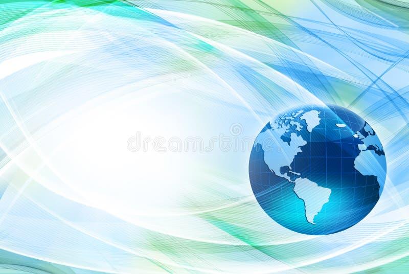 Самая лучшая концепция интернета глобального бизнеса Глобус, накаляя линии на технологической предпосылке Wi-Fi, лучи, символы стоковые фотографии rf