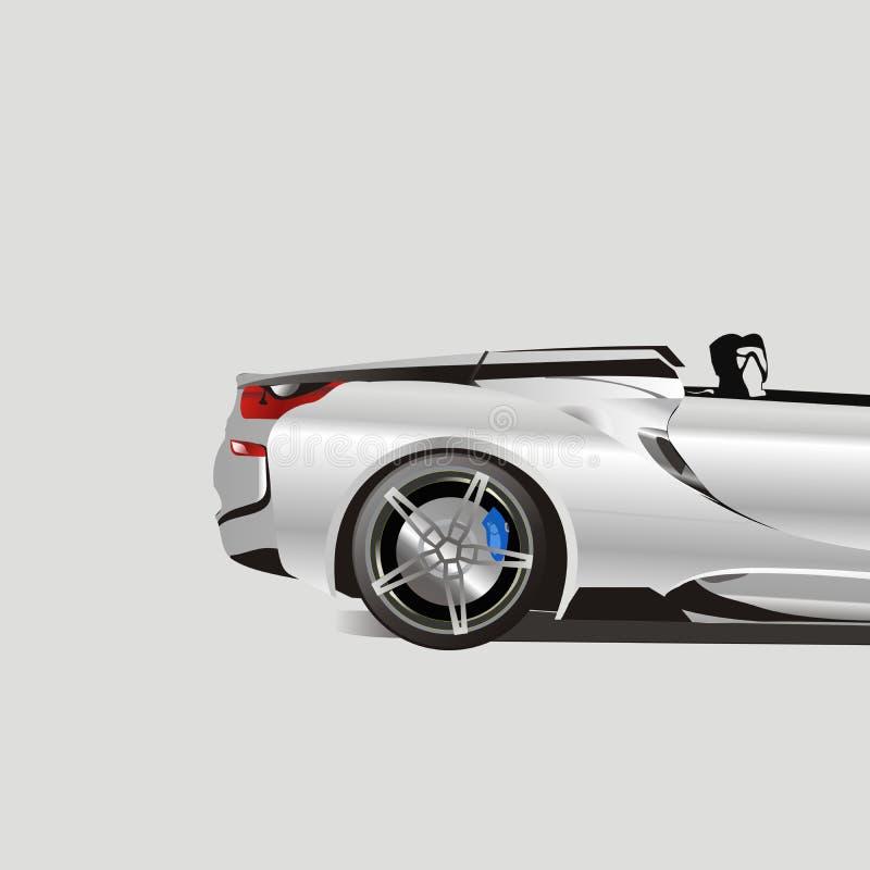 Самая лучшая спортивная машина 2018 людей иллюстрация вектора