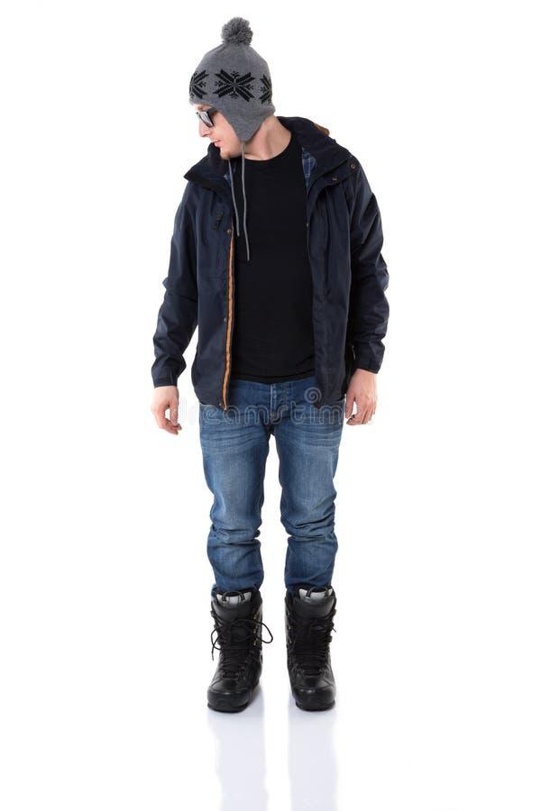 Самая новая мода зимы человека стоковая фотография rf