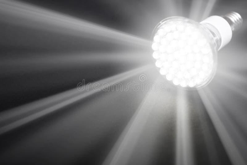 Самая новая электрическая лампочка СИД стоковое фото rf