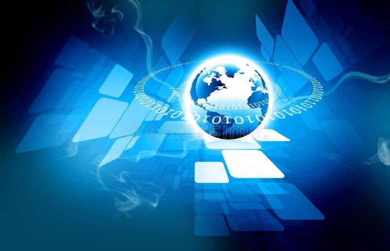 Самая лучшая концепция интернета глобального бизнеса иллюстрация вектора