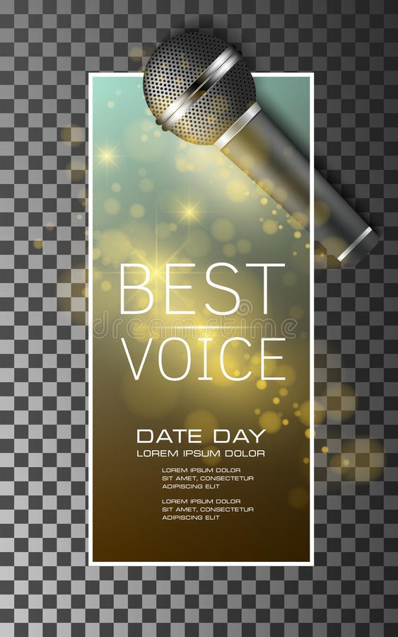 Самая лучшая предпосылка вектора плаката музыки голоса бесплатная иллюстрация
