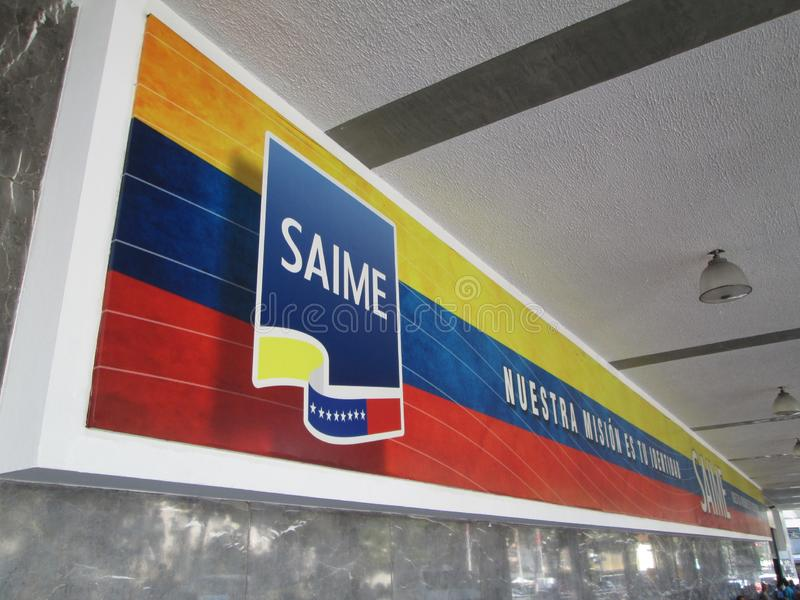 САМЕ, Административная служба по идентификации, миграции и иммиграции в Венесуэле центр города Каракас, Каракас, стоковые изображения