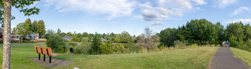 Саммерлейк-сити-парк в Тигарде, Орегон стоковое фото