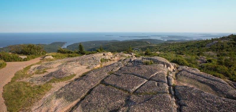 Саммит горы Кадиллака, национальный парк Acadia, стоковая фотография rf