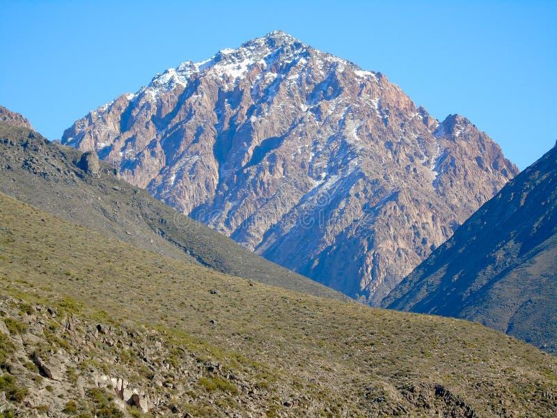 Саммит и холмы горы стоковое изображение