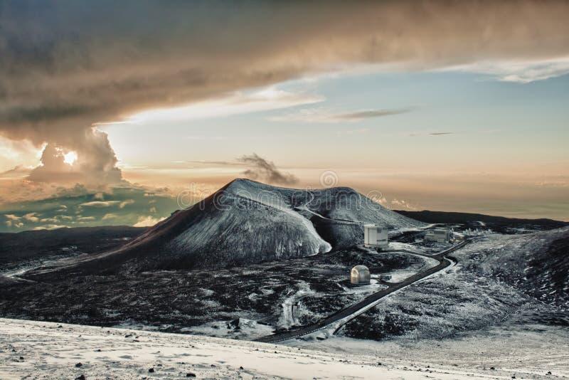 саммит обсерватории mauna kea стоковая фотография