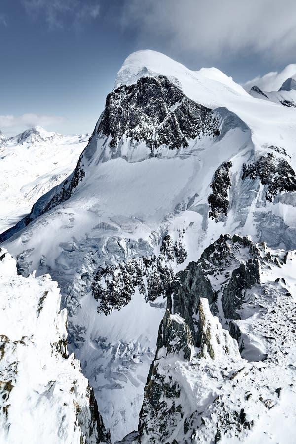 Саммит Breithorn, Альп, Швейцарии, Европы стоковое изображение