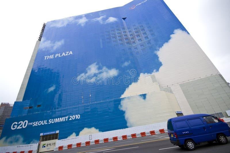 саммит g20 Кореи стоковое изображение rf
