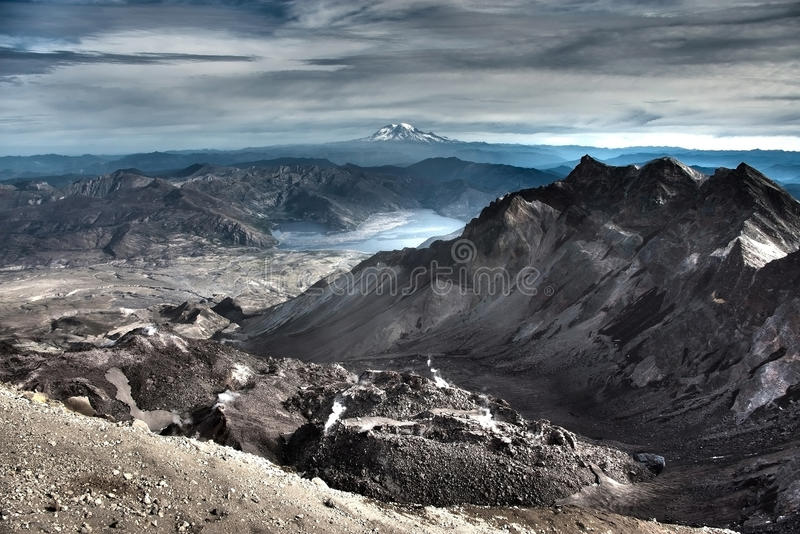 Саммит Mt Mount Saint Helens стоковое изображение rf