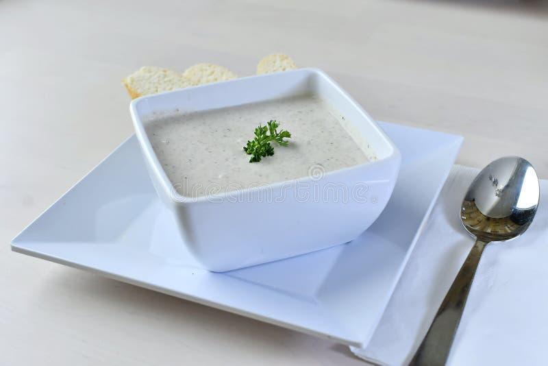 Самодельный густой суп Clam 2 стоковое фото rf