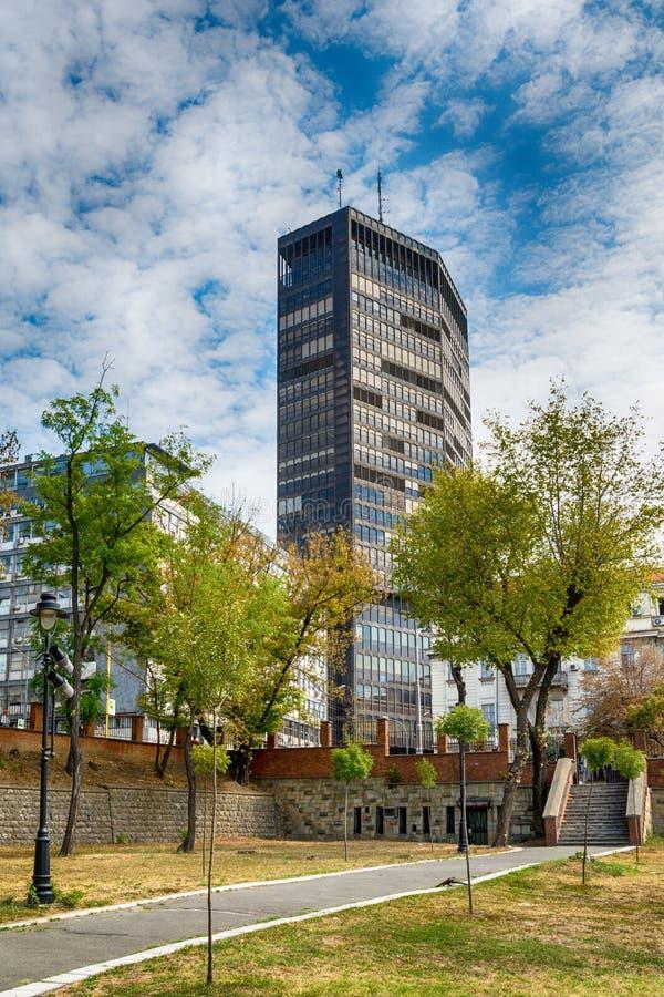 Самое большое здание в Сербии Beogradjanka стоковые фотографии rf