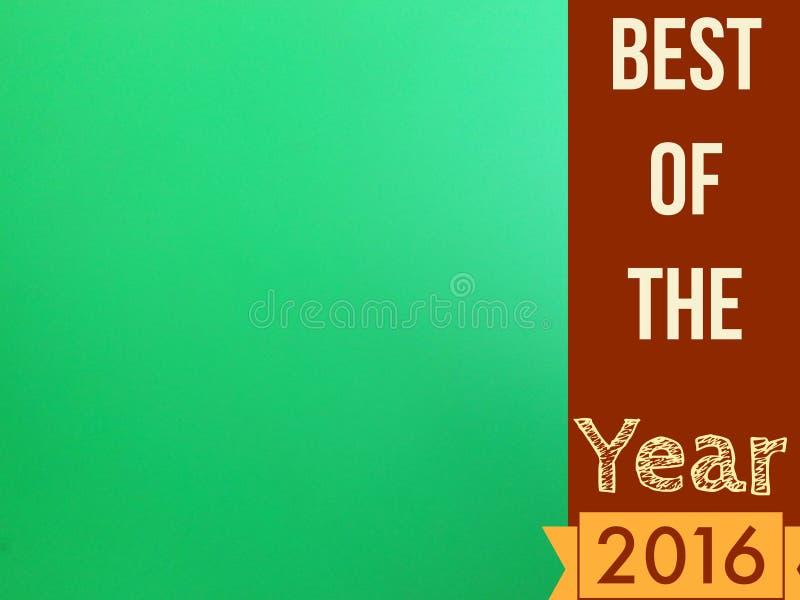 Самое лучшее страницы зеленого цвета пробела года 2016 для пользы иллюстрация штока