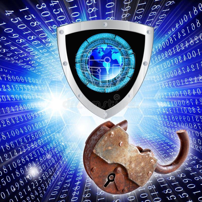 Самое новое Internet.Cybersecurity иллюстрация вектора