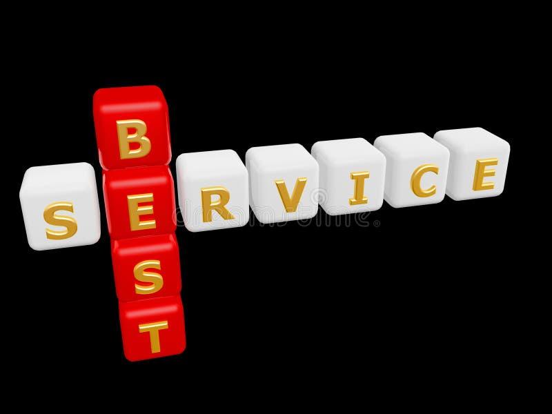 Самое лучшее слово креста обслуживания стоковые изображения rf