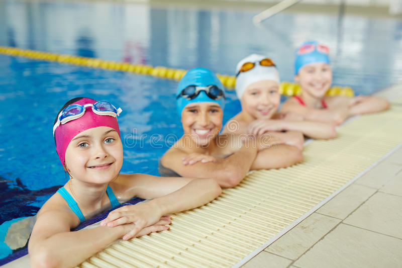 Самое лучшее Swimmenrs в школе стоковое изображение