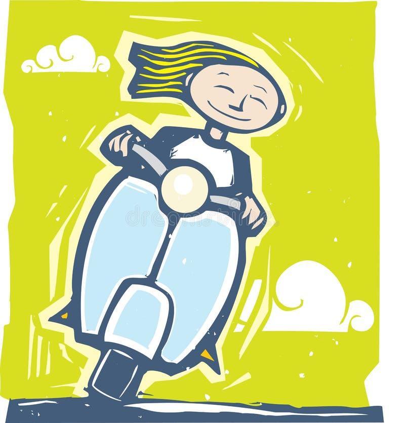 самокат езды бесплатная иллюстрация