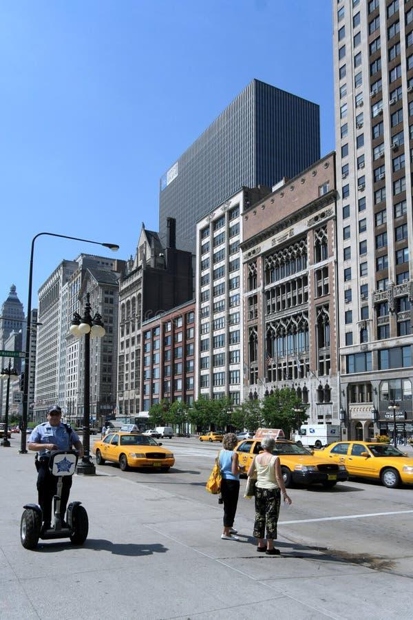 самокат полицейския chicago segway стоковое фото