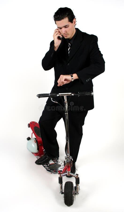 самокат человека стоковая фотография rf