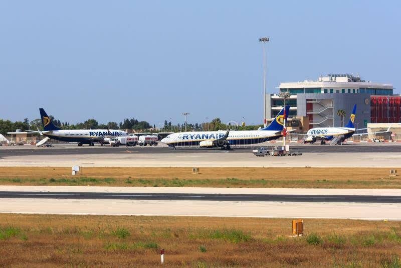 3 самолета Ryanair стоковое изображение