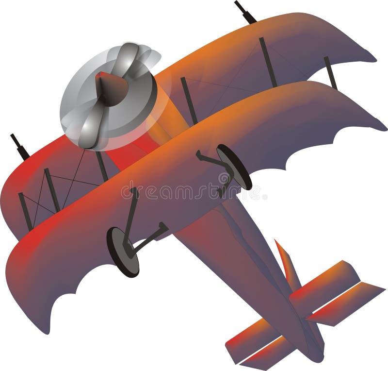 самолет-биплан стоковое изображение rf