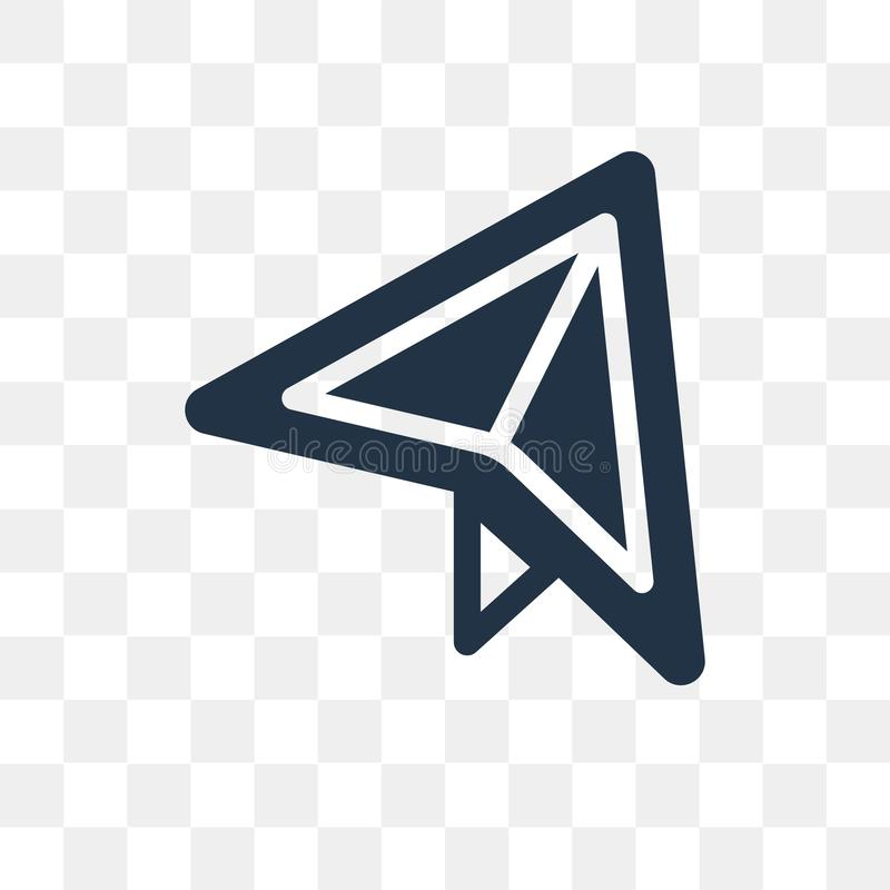 Самолет бумажного значка вектора листа изолированного на прозрачной задней части бесплатная иллюстрация