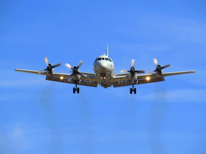 Самолет военно-морского флота Соединенных Штатов P3 Ориона стоковое фото