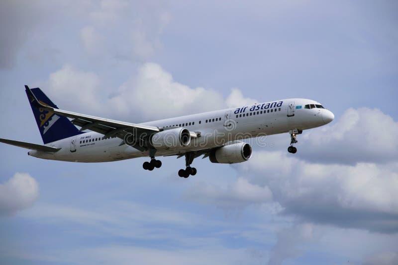 Самолет воздуха Астаны стоковое изображение