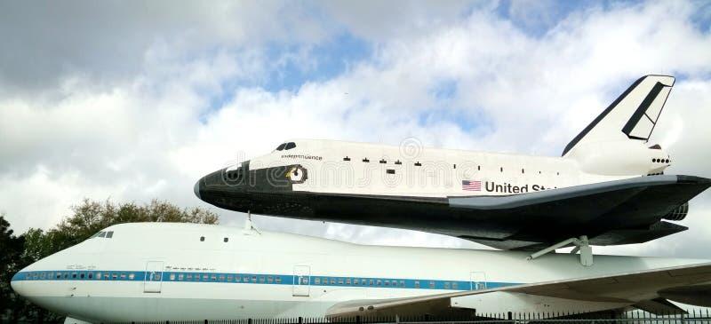Самолет в космическом центре Хьюстона стоковые фотографии rf