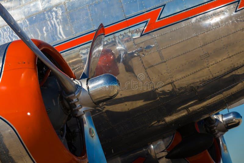 Самолет год сбора винограда DC-3 стоковое фото