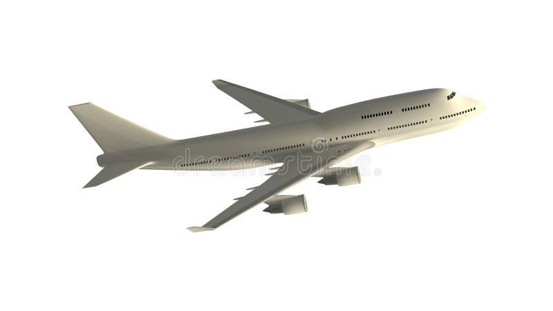 самолет изолированный на белизне бесплатная иллюстрация